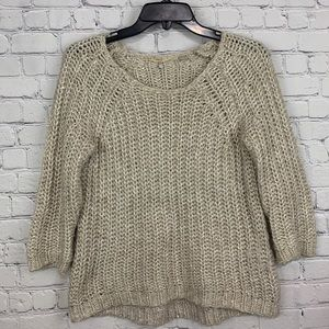 Knitted & Knotted by Anthropologie Crochet Sweater
